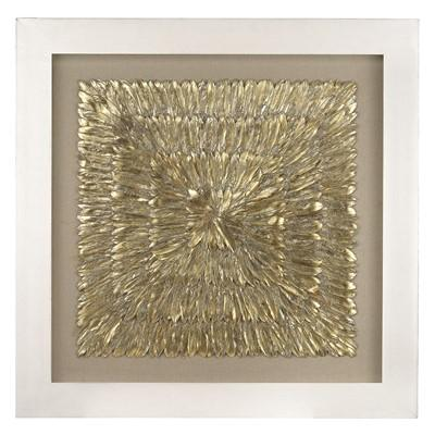 Charmant Gold Feather Spaturral Wall Decor