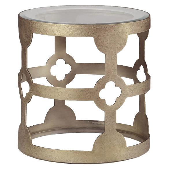 Gabby Furniture Mason Vintage Gold Side Table