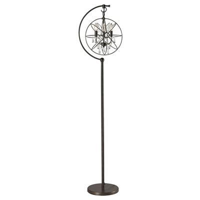 Anchored Orb Brass Floor Lamp