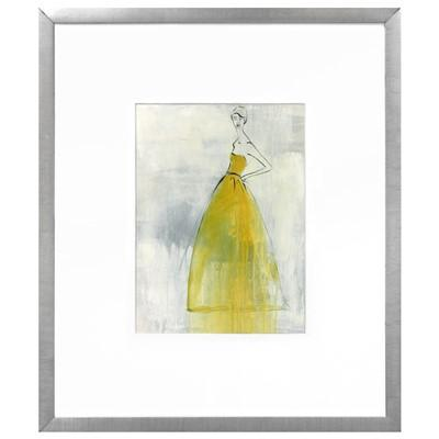 yellow and grey fashion iv framed wall art. Black Bedroom Furniture Sets. Home Design Ideas
