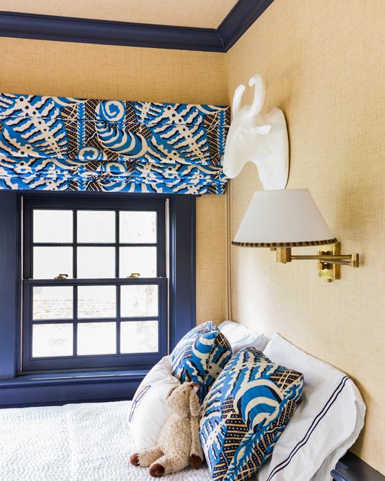Navy X Bench Cottage Bedroom Sb Long Interiors