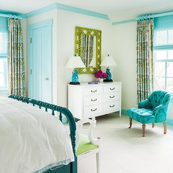 Turquoise Blue Closet Door Design Ideas