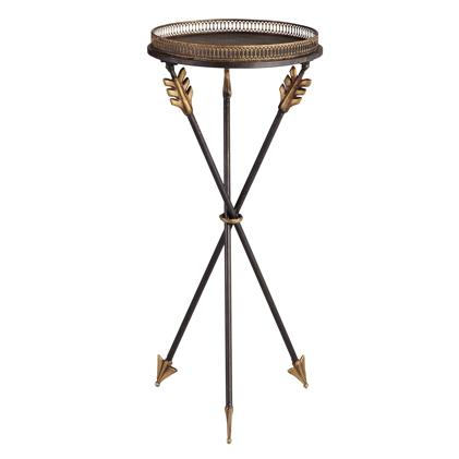 Antique Gold And Black Archers Side Table
