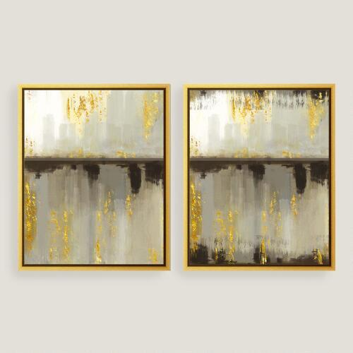 The Arts Capsule Blue And Gold Ink Diptych