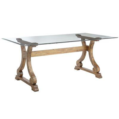 Marchella Java Brown Rectangular Dining Table Base