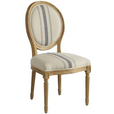 Blue Stripe Eliane Dining Chair
