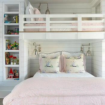 Kids Loft Bed Transitional Girl S Room Nightingale Design