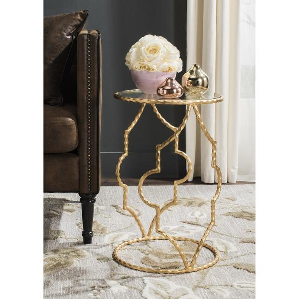 Brown Gold Eucalyptus Side Table