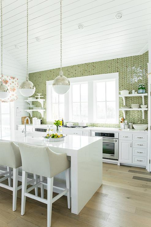 white kitchen green backsplash beautiful kitchen features gray cabinets painted 298