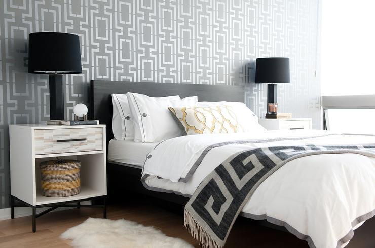 Jonathan Adler Greek Key Wallpaper - Contemporary - bedroom - New ...