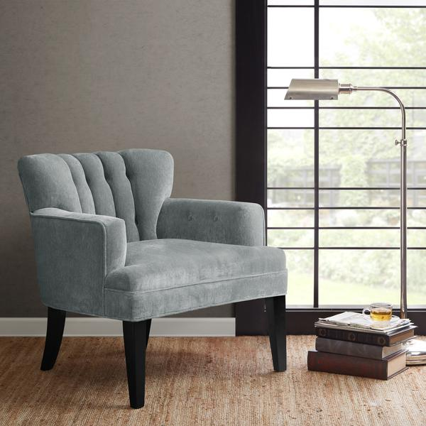 & Madison Park Gianna Blue Tufted Wide Seat Club Chair