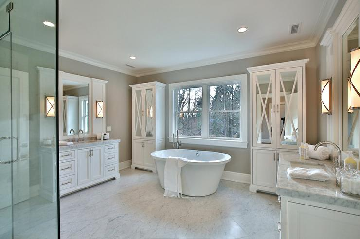 Transitional Bathroom Wall Sconces glam bathroom vanity with robert abbey chase 2 light wall sconce