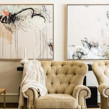 Cream And Black Abstract Art Design Ideas