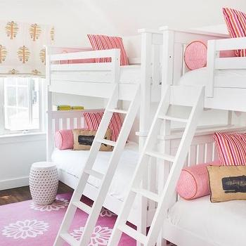Boys And Girls Bunk Room With Taupe Bunk Beds Traditional Girl S