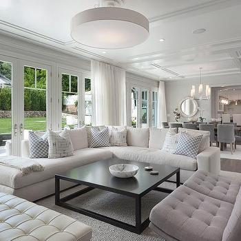 Gray Linen Tufted Accent Chairs Design Ideas