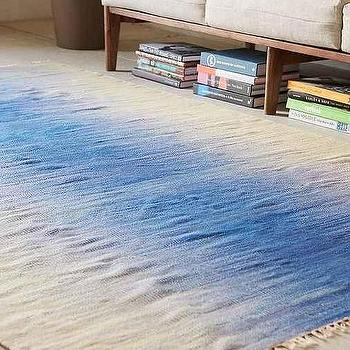 Blue Discord Woven Wool Rug