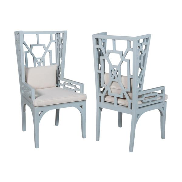 Manor Blue Wing Chair
