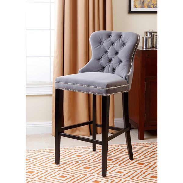 Kosas Home Cayle French Beige Bar Stool : tufted armless grey barstool from decorpad.com size 600 x 600 jpeg 47kB