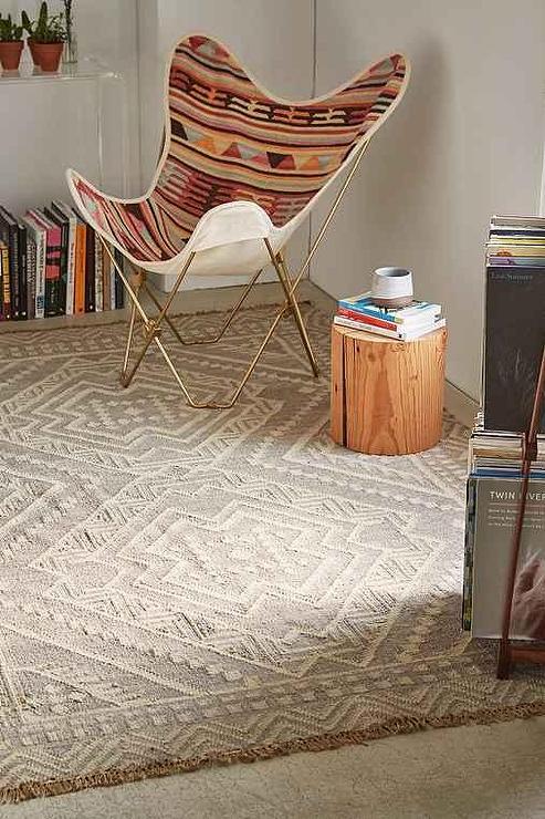 Gleason Grey Woven Wool Rug