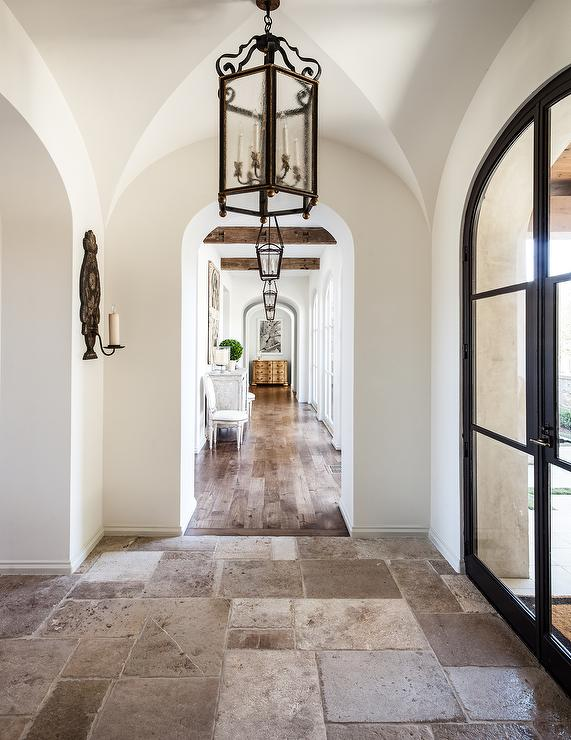 Foyer Arch Designs : Sloped ceiling in foyer design ideas