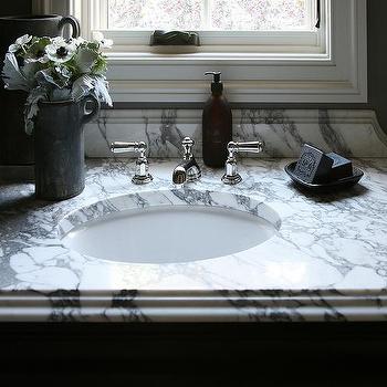 M Arabescato Marble Countertop Bathroom