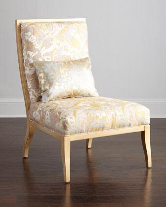 Stupendous Massoud Gold And Ivory Amber Accent Chair Gmtry Best Dining Table And Chair Ideas Images Gmtryco