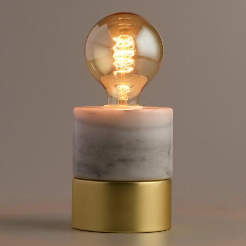 Marble And Gold Object Desk Lamp