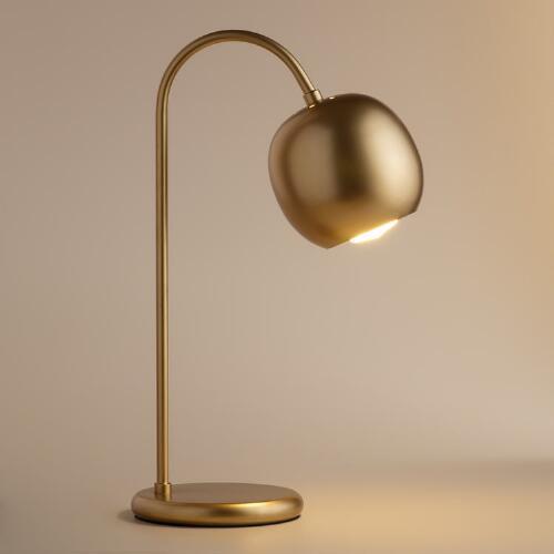 Antique gold scoop desk lamp aloadofball Gallery