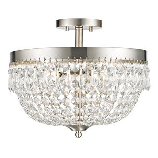 Z Lite Danza 4-lights Brushed Nickel Silver Semi Flush Mount