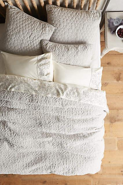Gray Velvet Coverlet : Yellow embroidered reversible coverlet