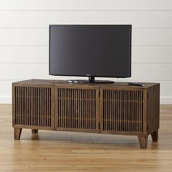 slatted doors. Marin Shiitake Brown Media Console Slatted Doors E