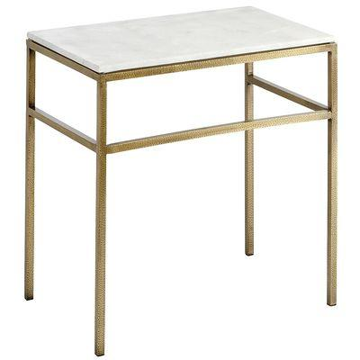 Ethel White Marble Top End Table