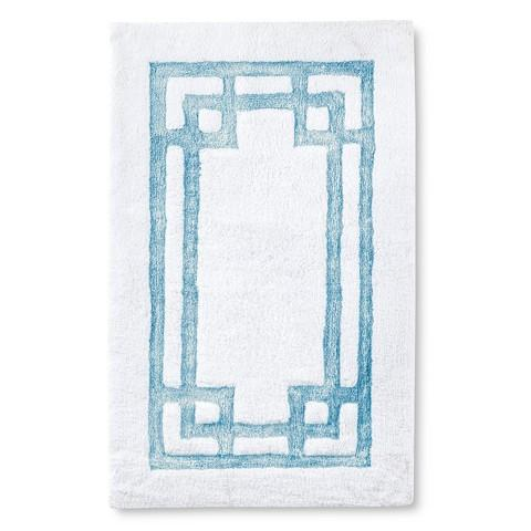Marvelous Fieldcrest Luxury Blue Pattern Bath Rug
