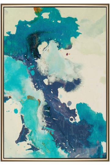Exhale Blue Framed Wall Art
