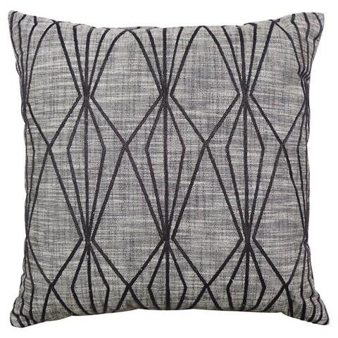 threshold grey faceted embroidered pillow view full size