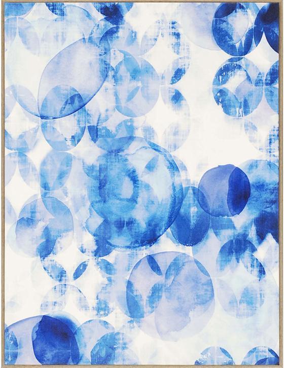 Blue Overlapping Framed Wall Art