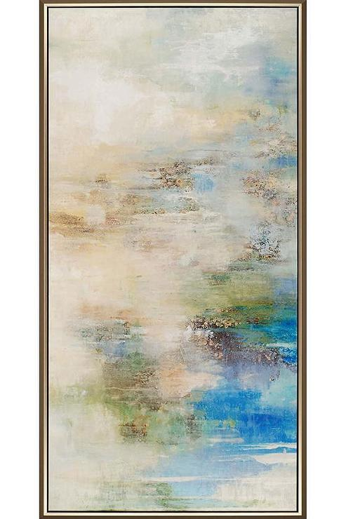 Blue and Beige Reflection Framed Wall Art