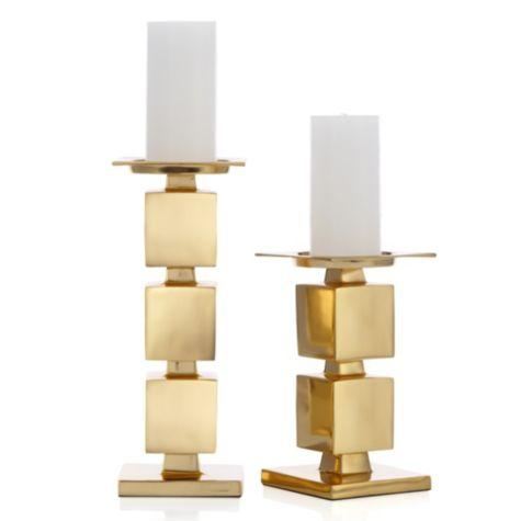 Gold Cinder Pillar Holder