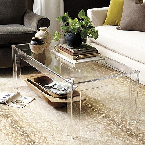 Felicity Clear Acrylic Coffee Table - Clear Acrylic Top Coffee Table - Products, Bookmarks, Design