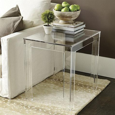 Exceptionnel Felicity Clear Acrylic Rectangular Side Table