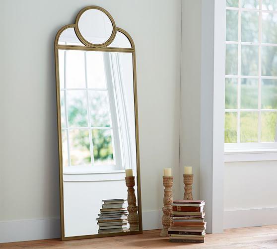 gold jensen floor mirror