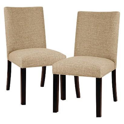 Threshold Linen Parsons Beige Dining Chair