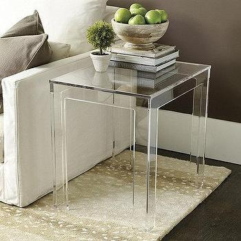 Clear Serena Side Table Design By Interlude Home