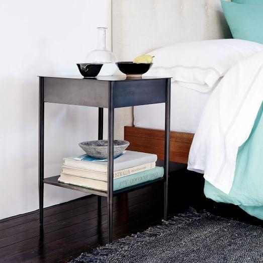 reputable site 319e1 34773 Black Steel Metalwork Nightstand