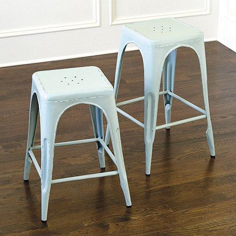 Astonishing Spa Green Marian Metal Backless Barstool Creativecarmelina Interior Chair Design Creativecarmelinacom