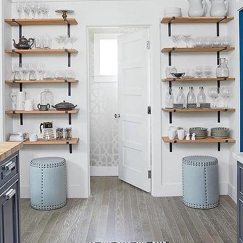 Wood And Iron Kitchen Shelves Design Ideas