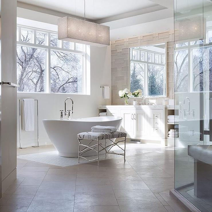 View Full Size. White And Gray Bathroom ...