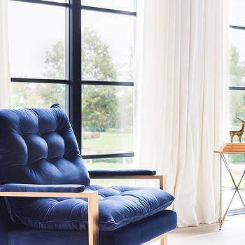 Navy Velvet Accent Chair Design Ideas