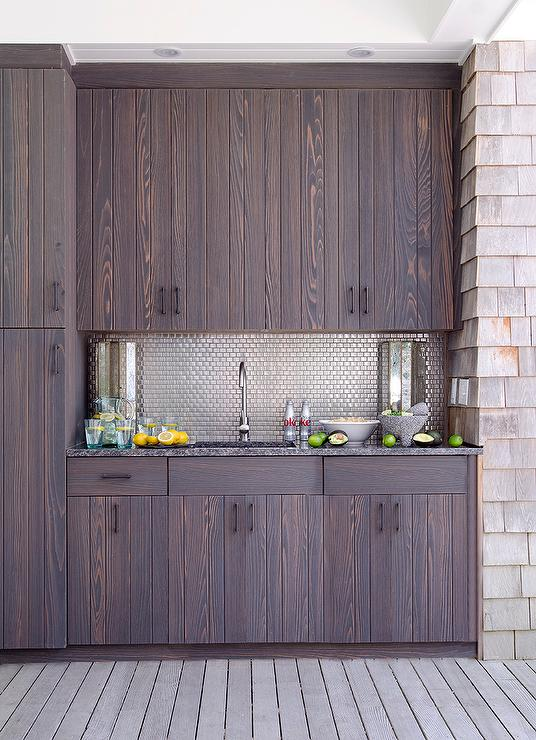 Black Outdoor Kitchen Cabinets Design Ideas