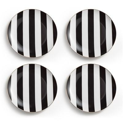 sc 1 st  Decorpad & Black and White Rosanna Soiree Noire Plate Set of 12